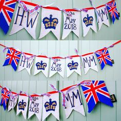 Oldhaus.co.uk Harry and Megan bunting Tea Party Wedding, Brunch Wedding, Royal Party, Wedding Bunting, Royal Blood, Prince Henry, American Life, Red White Blue, Celebrity Weddings