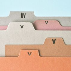 paperandtype: v's are my weakness, what can i say? here's yet another…
