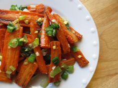 Roasted Carrots with Scallion-Ginger Glaze - Mark Bittman