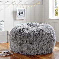 Gray Fur-Rific Beanbag More
