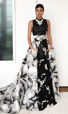 Giovanna Battaglia black and white More