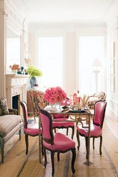 My favorite: pink!  House Beautiful