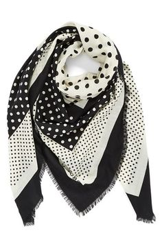 MARC BY MARC JACOBS Polka Dot Square Wool Scarf