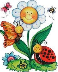 Resultado De Imagen Para Imagenes Infantiles De Primavera Arte Caprichoso Manualidades Como Dibujar Mariposas