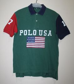 Purchase this Vintage Ralph Lauren Polo USA Shirt (Sz Small) direct from me! #SameDay #FreeShipping