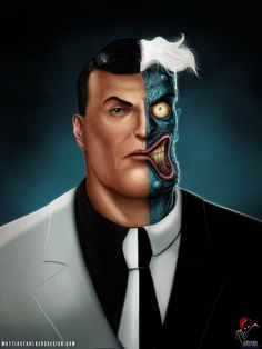 Two-Face and Riddler by Mattias Fahlberg