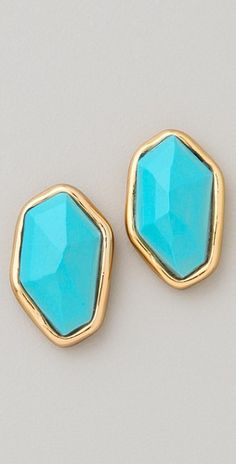 turquoise ear bobs