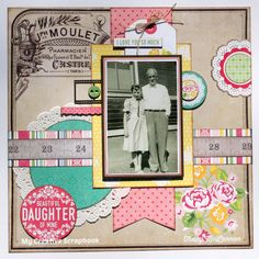 My Creative Scrapbook May Creative Kit Echo Park Paper- Petticoats & Pinstripes Scrapbooking Papercrafting