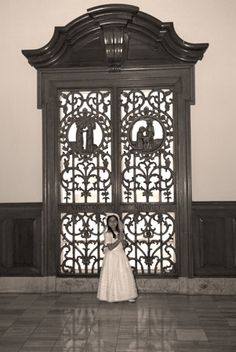 First communion - Photo Ideas  Pose in front of the Church Doors