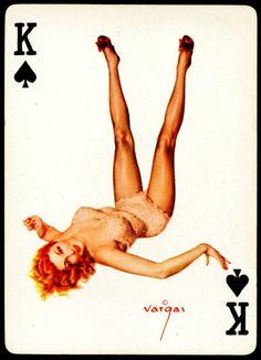 Alberto Vargas - Pin-up Playing Cards (1950) - King of Spades