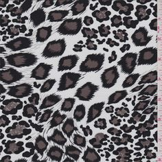 White Cheetah Challis - 32241 - Fabric By The Yard At Discount Prices