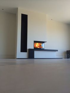 Stunning Contura i41; fire visible from two sides, great detailing from Kernow Fires in Cornwall.