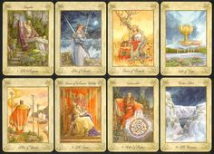 """The """"Llewellyn Tarot"""" is based on the legends and mythology of Wales, and celebrates the Welsh heritage of Tarot publishers, Llewellyn. The ..."""