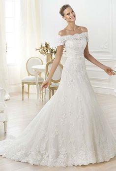 Off the shoulder Letour dress from Pronovias Wedding Dresses