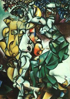 Marc Chagall - Temptation (Adam and Eve)