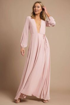 Cherish Me Rose Plunging Maxi Dress Vestidos Junior, Junior Dresses, Modest Dresses, Nice Dresses, Maxi Dresses, Spring Dresses For Juniors, Formal Dresses For Women, Formal Gowns, Banquet Dresses