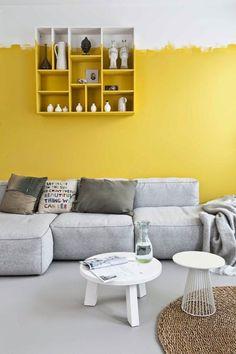yellow painted walls