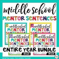 126 Best Mentor Sentences Middle School Grammar images in