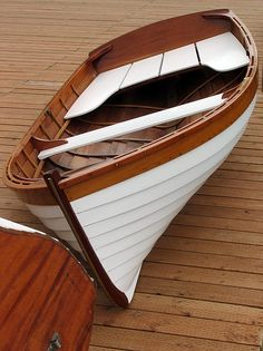 What astonishing grace and line is incorporated into the humblest wooden rowboat!
