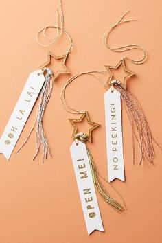 Shooting Star Holiday Gift Tags | Anthropologie