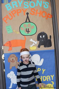 """The cutest """"puppy"""" party, complete with invitations, food, take-home gifts, and games."""