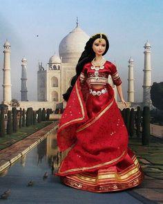 """Robe Barbie """" Parvati """" vêtement Hindou pour poupée Barbie et autres f3788"""
