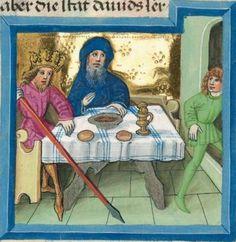 """Furtmeyr-Bibel (Deutsche Bibel """"Münchener Altes Testament""""). Band 1: Genesis - Ruth. Cgm 8010a 1465-70, Regensburg Folio 268"""
