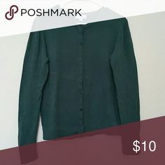 Forest Green button up cardigan Size XL, long sleeve, 92% cotton, 6% nylon, 2% spandex. Merona Sweaters Cardigans