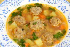 Retete Culinare - Ciorba de perisoare cu cartofi Supe, Cheeseburger Chowder, Food, Fine Dining, Essen, Yemek, Meals
