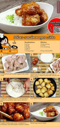 Chicken breast with sesame seeds Recipe with video - quick recipes - FLEISCHGERICHTE Rezepte mit Videos, mit Rezeptkarten - Chicken recipes healthy Quick Chicken Recipes, Quick Recipes, Meat Recipes, Healthy Recipes, Healthy Eating Tips, Healthy Nutrition, Sesame Seeds Recipes, Salud Natural, Hungarian Recipes