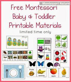 Montessori Nature: Free Montessori Baby & Toddler Printable Materials.