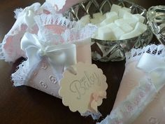 Diaper Favors White Lace / Baby Shower Favor by TheCarriageShoppe