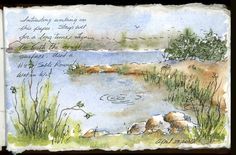 Sketch Book Today hubby and I decided to go sight seeing, checking out Carney Island Recreation and Conservation park and Silver Glen Springs in the Oca. Watercolor Painting Techniques, Watercolor Sketchbook, Artist Sketchbook, Pen And Watercolor, Watercolor Landscape, Painting & Drawing, Watercolor Paintings, Watercolours, Fashion Sketchbook