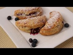 Blueberry Turnovers Recipe - Laura in the Kitchen - Internet Cooking Show Starring Laura Vitale