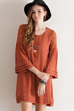 Burnt Orange Dress from Longhorn Fashions in Austin