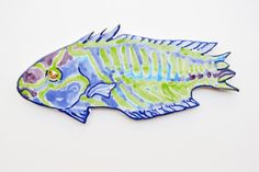 Fish Ceramic Wall Decor Tropical Ocean Fish by acosmicmermaid