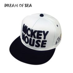 25c6abf17b0 High Quality Mickey Letter Embroidery Baseball Caps For Men Women Casquette  Brand Fashion Bones Adjustable Snapback Hat JX133