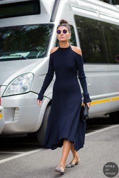 Giovanna Battaglia Street Style Street Fashion Streetsnaps by STYLEDUMONDE Street Style Fashion Photography
