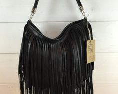 showdiva designs RoCknRoLL  Leather  Fringed Bag Purse by showdiva