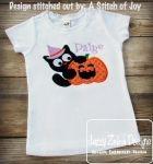 Cat with Jack-o-lantern 110 Appliqué Embroidery Design