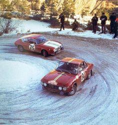 1968 MONTE CARLO RALLY - Car No: 75: Lancia Fulvia HF Berlinetta. Drivers: Fiorenzo Genta / Arturo Brena. Place: 29th o/a. Car No: 84. Lancia Fulvia Zagato HF. Drivers: Serge Barbasio / Ugo Barilaro,. Place: 15th o/a.