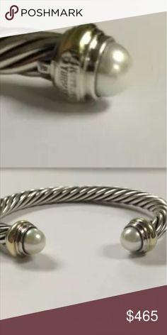 David Yurman Cable Cuff Pearl Bracelet 8mm Authentic David Yurman Cable Cuff Pearl Bracelet 8mm - perfect condition make offer PP only David Yurman  Jewelry Bracelets