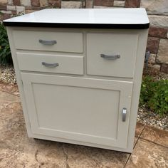 Refurbished Enamel Top Cabinet by TheCrowdedGarage on Etsy