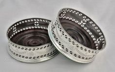 Antiques Atlas - Pair George III Pierced Silver Wine Coasters