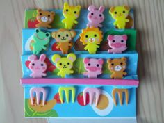 Cute Animal Food Forks for Japanese Bento Lunch Box - 12 Pack