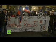 """Protest in Madrid: """"Die Ukraine beschießt Zivilisten und die EU ist ihr Komplize"""" — RT Deutsch"""