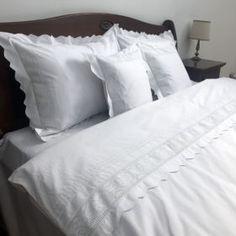 Lenjerie de pat din bumbac 100%, model cu dantelă - LNJ-58 - ArtDecor Bed Pillows, Pillow Cases, House, Model, Handmade, Pillows, Hand Made, Home