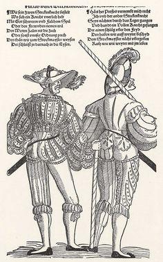 Aritst: Stör, Niklas, Title: Zwei Landsknechte, Date: ca. 1540