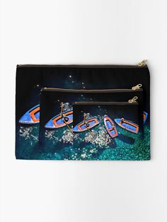'Boat chatting' Zipper Pouch by Hercules Milas Greece Islands, Hercules, Iphone Wallet, Gifts For Family, Zipper Pouch, Are You The One, Ships, Boat, Boats