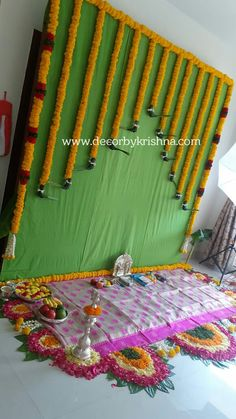 Decor by Krishna AP/ Telangana/ Karnataka/ Tamilnadu/ USA/Australia Diwali Decorations At Home, Wedding Stage Decorations, Backdrop Decorations, Flower Decorations, Naming Ceremony Decoration, Marriage Decoration, Desi Wedding Decor, Wedding Stage Design, Indian Baby Showers